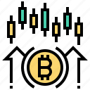 analysis, bitcoin, cashless, cryptocurrency, currency, graph icon