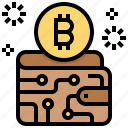 bitcoin, cashless, cryptocurrency, currency, digital, money, wallet icon