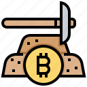 bitcoin, cashless, coin, cryptocurrency, currency, mining, money icon