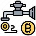 bitcoin, cashless, cryptocurrency, currency, money, supplied icon