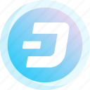 bitcoin, cryptocurrency, dash, finance, logo, monetary, money