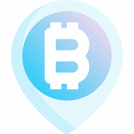 Bitcoin, cryptocurrency, finance, location, money, payment, place icon - Download on Iconfinder