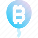 balloon, bitcoin, cryptocurrency, finance, money, payment, value