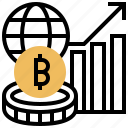 Bitcoin Capitalization Cryptocurrency Global Market Icon