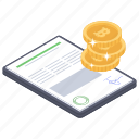 bitcoin contract, bitcoin document, cryptocurrency paper, financial agreement, smart contract icon