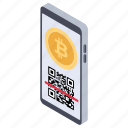 bitcoin scanning, mobile banking, mobile bitcoin scanning, online cryptocurrency, scanning app icon