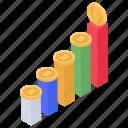 bitcoin analytics, bitcoin barchart, bitcoin chart, blockchain rating, cryptocurrency statistics icon