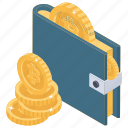 bitcoin pouch, bitcoin wallet, cryptocurrency wallet, digital money, money wallet, virtual currency icon