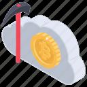 bitcoin cloud mining, bitcoin earning, bitcoin mining, blockchain, cryptocurrency mining, exploring bitcoin icon