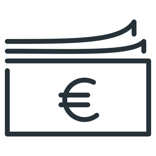 cash, currency, euro, money icon