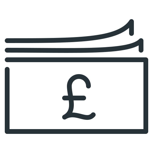 cash, currency, money, pound icon