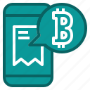 accept, bitcoin, cryptocurrency, payment, shopping icon