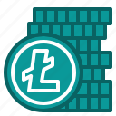 crypto, currency, digital, litecoin icon