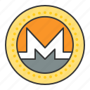 blockchain, coin, cryptocurrency, digital currency, monero icon