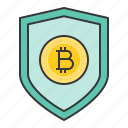 badge, bitcoin, blockchain, coin, cryptocurrency, digital currency icon