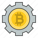 bitcoin, blockchain, coin, cryptocurrency, digital currency, service icon