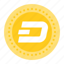bitcoin, blockchain, coin, cryptocurrency, dashcoin, digital currency icon