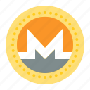 bitcoin, blockchain, coin, cryptocurrency, digital currency, monero icon