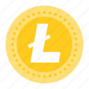 bitcoin, blockchain, coin, cryptocurrency, digital currency, litecoin icon
