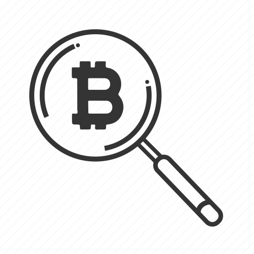 bitcoin, cryptocurrency, digital, money, online, search icon