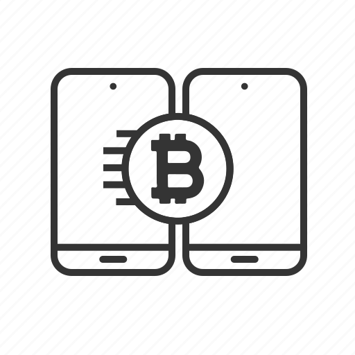cryptocurrency, digital, mobile, money, online, transfers icon
