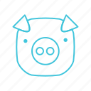animals, characters, cute, farm animal, nature, pets, pig icon