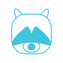 animals, characters, cute, forest, nature, pets, raccoon icon