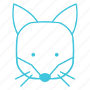 animals, characters, cute, forest, fox, nature, pets icon