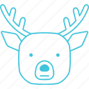 animals, characters, cute, deer, forest, nature, pets icon