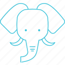 animals, characters, cute, elephant, nature, pets, zoo icon