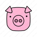 animals, characters, color, cute, farm, pets, pig