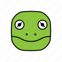 animals, characters, color, cute, frog, kermit, pets icon