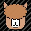 alpaca, animals, characters, color, cute, farm, pets