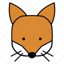 animals, characters, color, cute, forest, fox, pets