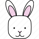 animals, bunny, characters, color, cute, pets, rabbit icon