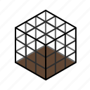 cage, dark, deadfall, decoy, net, snare, square icon