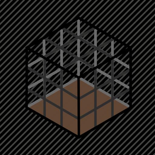 cage, dark, deadfall, decoy, net, snare, square icon