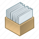 box, documents, segregated, invoices, documentation, with, order