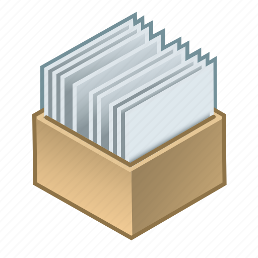 box, documentation, documents, invoices, order, segregated, with icon