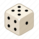 chance, dice, draw, gambling, play, random, risk icon