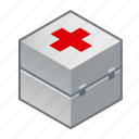 aid, bandages, dressings, first, first aid kit, kit, medicine icon
