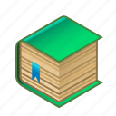 book, bookmark, bookshop, bookstore, green, knowledge, with icon