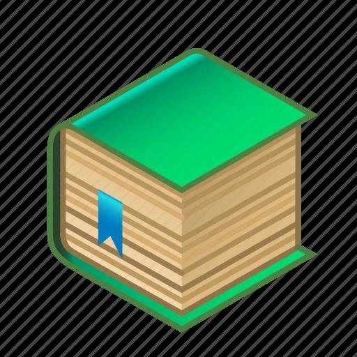 book, bookmark, bookshop, bookstore, green, knowledge, with icon