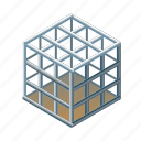 birdcage, cage, metal, net, pitfall, ruse, trap icon