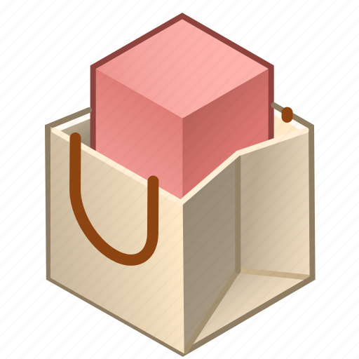 article, bag, packing, paper, products, ware, with icon