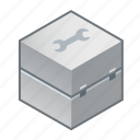 box, case, coffer, repair, servis, tool, toolbox icon