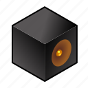 box, cube, sound, speaker, speakers icon