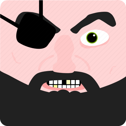 halloween, pirate icon
