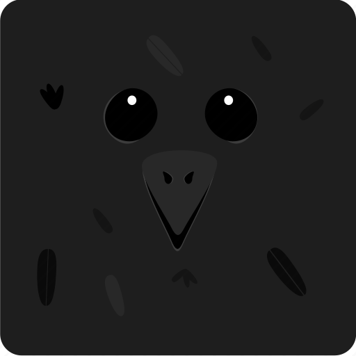 halloween, raven icon
