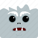 halloween, yeti icon
